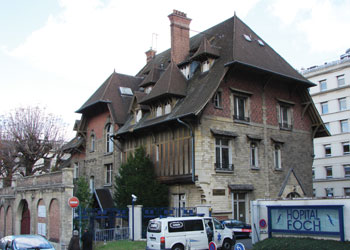 L'hôpital Foch, à Suresns (Hauts-de-Seine)