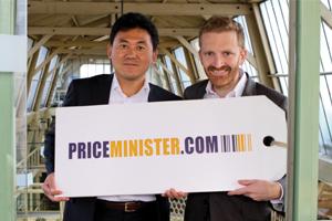 Hiroshi Mikitani, PDG de Rakuten et Pierre Kosciusko-Morizet chez PriceMinister