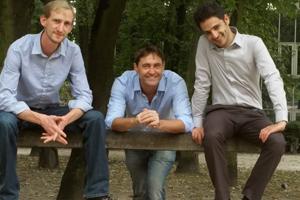 De gauche à droite : Simon Uyttendaele (CTO), Yann Autissier (COO) et Samuel Hassine (CEO), les cofondateurs de Busit. © Busit