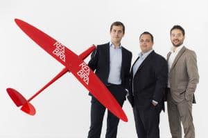 Les co-fondateurs de Redbird (de gauche à droite) : Emmanuel de Maistre, président ;  Emmanuel Noirhomme, directeur financier et Benjamin Hugonet, directeur commercial. © Redbird
