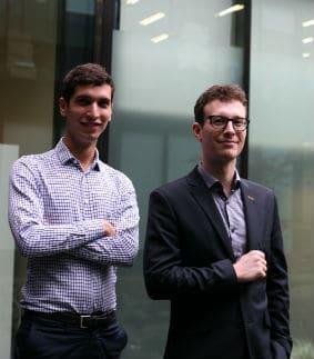 Jean Inard-Charvin et Geoffrey Bruno, tous deux ingénieurs de l'Institut d'Optique ParisTech, ont fondé Enovasense en 2013. © Enovasense
