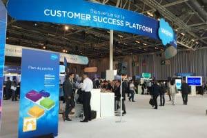 60 partenaires Salesforce ont exposé leurs stands au Parc des Expositions. © Charlie Perreau