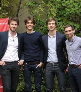 L'équipe des fondateurs de Shippeo. © Shippeo