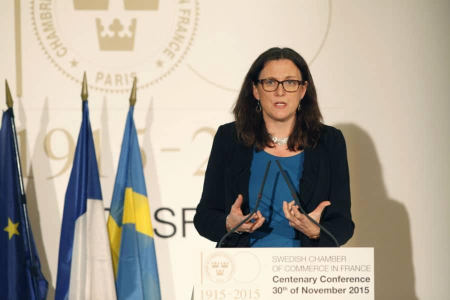 Cecilia malmstr m commissaire europ enne au commerce for Chambre de commerce europeenne
