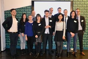 L'équipe de Silex lors du lancement de la plateforme le 17 février 2016. © Silex