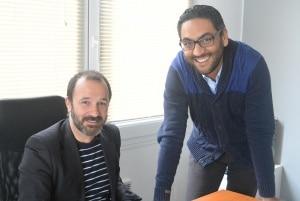 Nicolas Simiand à gauche et Younes Aboutaib à droite © Verseo