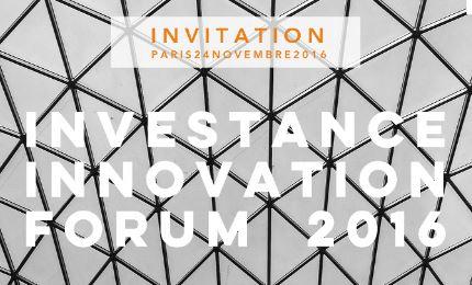 INVESTANCE INNOVATION FORUM 2016 » le 24 novembre 2016
