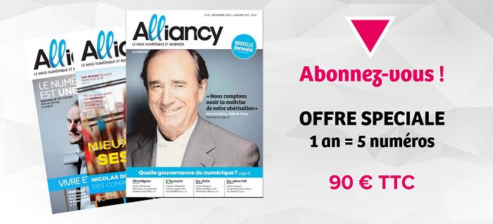 S'abonner au magazine  numérique et business alliancy