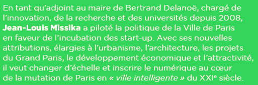 """Jean-Louis Missika, adjoint à la mairie de Paris : """"Tout Paris est un grand quartier numérique"""""""