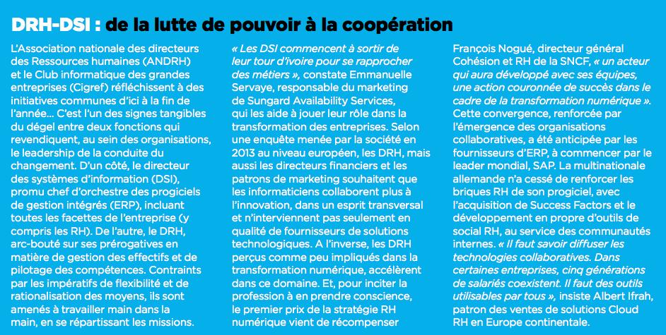 DrH-DSi : de la lutte de pouvoir à la coopération