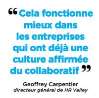 """""""Cela fonctionne mieux dans les entreprises qui ont déjà une culture affirmée du collaboratif """""""