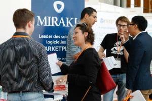 Mirakl au Paris Startup Job Fair en septembre 2014. © Charlie Perreau