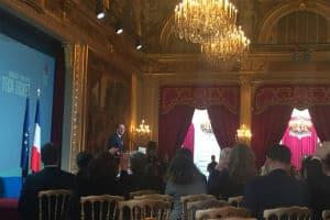 Le 2 mars 2016, François Hollande a reçu 23 start-up étrangères à l'Elysée. © Charlie Perreau