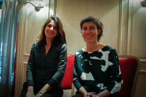 Stéphanie Gibert (à droite) et Paola Jesson. © Charlie Perreau