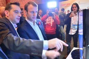 Emmanuel Macron lors de son passage au Web 2014. © Official LeWeb Photos