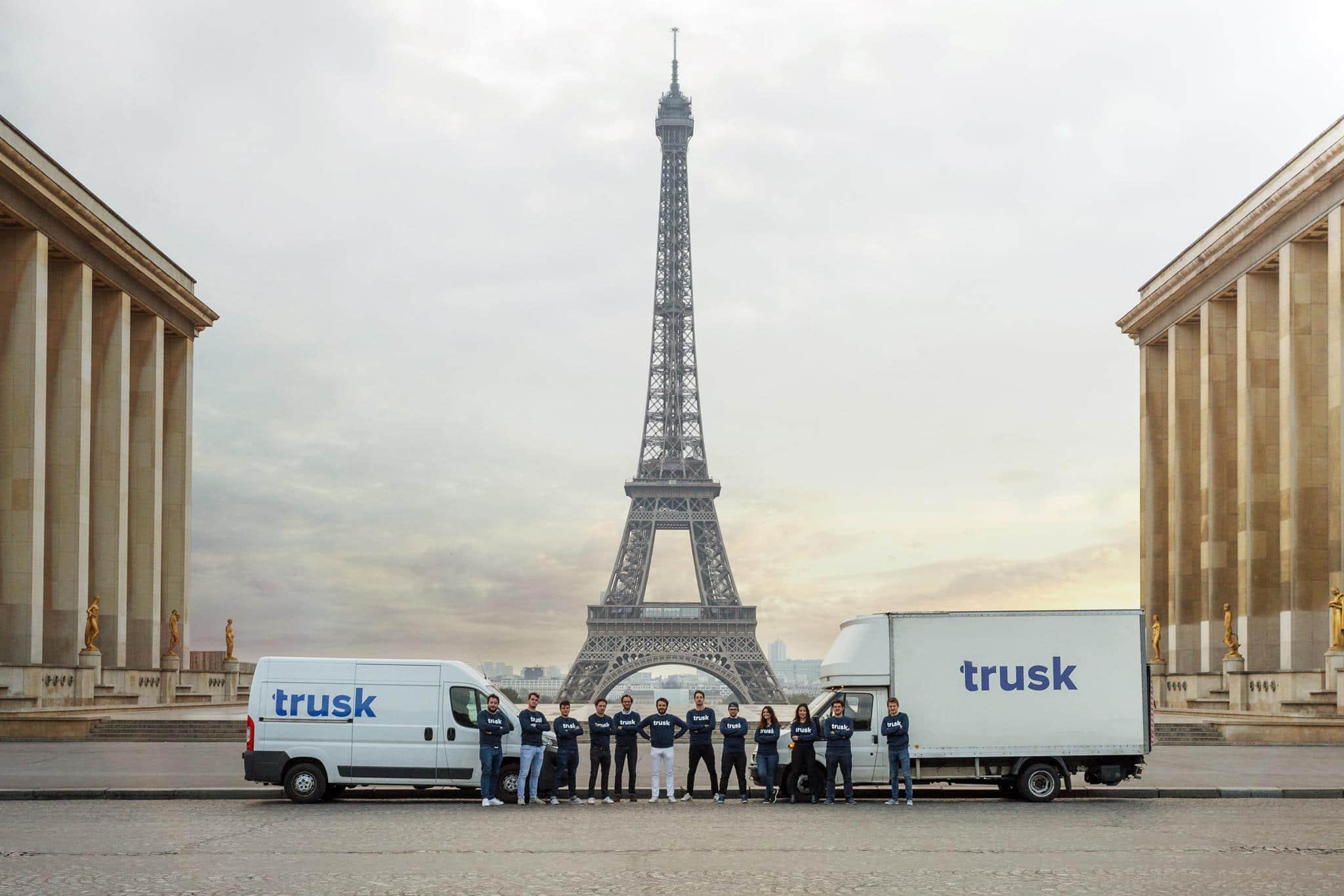 Le service Trusk est disponible en Île-de-France et à Londres. © Trusk