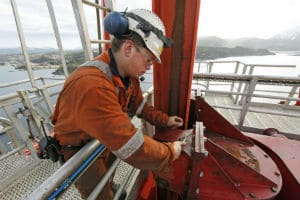 Une plateforme offshore Shell