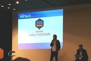 Ici, intervention de Julien Huelvan de Beedeez (formation via le mobile)