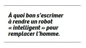 robot remplace l'homme