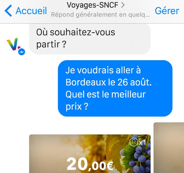 chatbot Voyages-sncf.com,