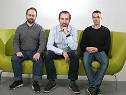 Les cofondateurs d'Open Agora, Olivier Bache, Christophe Morvan (au centre) et Benoit Masson. ©Open Agora
