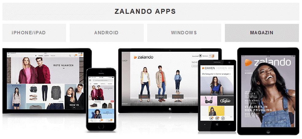 A la mi-2017, le chiffre d'affaires de Zalando s'élève à plus de 2 milliards d'euros (+ 21,5 %), des ventes réalisées à 70 % via les mobiles (DR).
