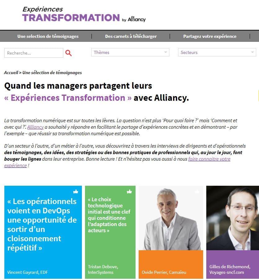 experiences transformation