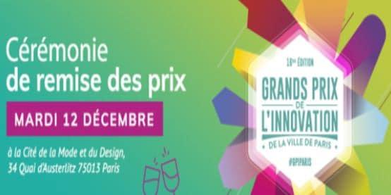 Grands Prix de l'Innovation  de la Ville de Paris 2017