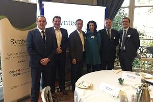 L'équipe dirigeante du Syntec Numérique hier lors de la conférence semestrielle 2017, autour de son président Godefroy de Bentzmann.