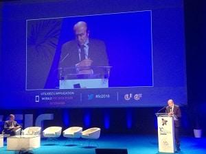 Photo Gérard Collomb, ministre de l'intérieur, lors de l'ouverture du FIC