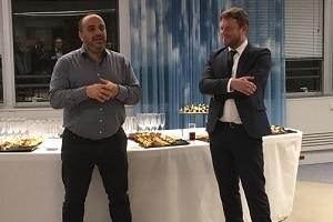 Stéphane Messika (CEO de Kynapse by Open) et Benoît Thieulin à droite (Directeur de l'Innovation d'Open) au @Fastlab_byOpen