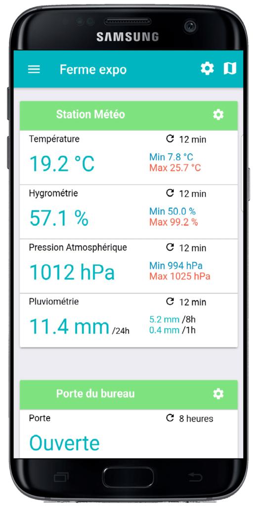 Ici, la station météorologique connectée de VisioGreen, qui utilise le réseau LoRa d'Objenious.