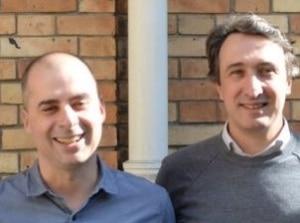 Yan Georget (polytechnicien, docteur en IA) et Javier Gonzalez (HEC), les cofondateurs de Botfuel. Auparavant, tous deux ont œuvré dans d'autres entreprises de la fintech, de la logistique urbaine, du marketing digital et des grands groupes.