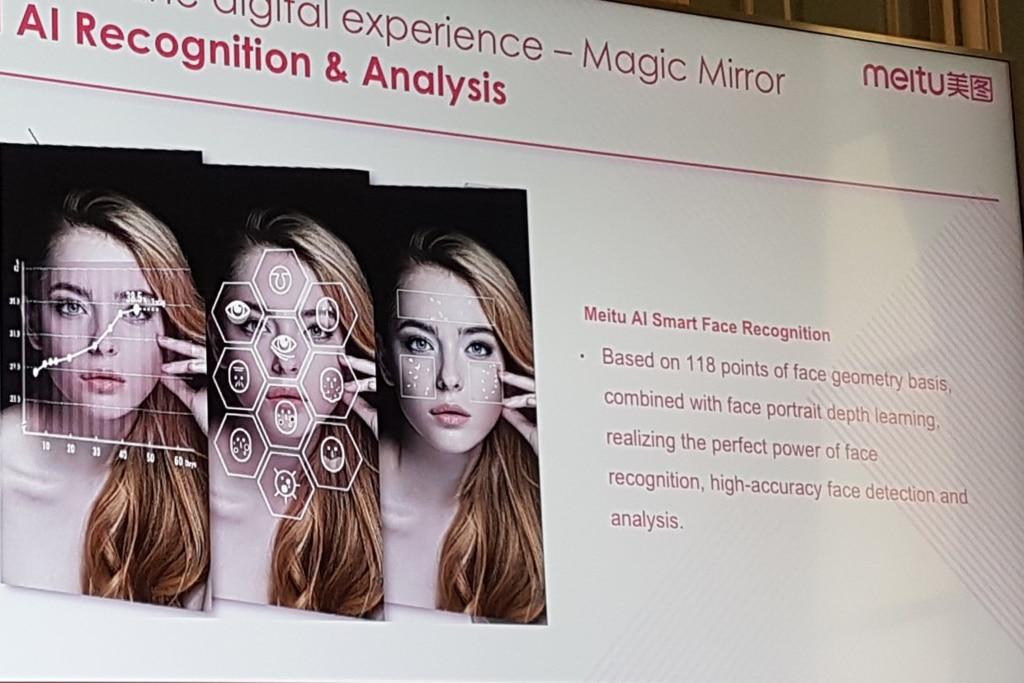 L'application chinoise Meitu utilise l'IA pour réaliser un maquillage virtuel.