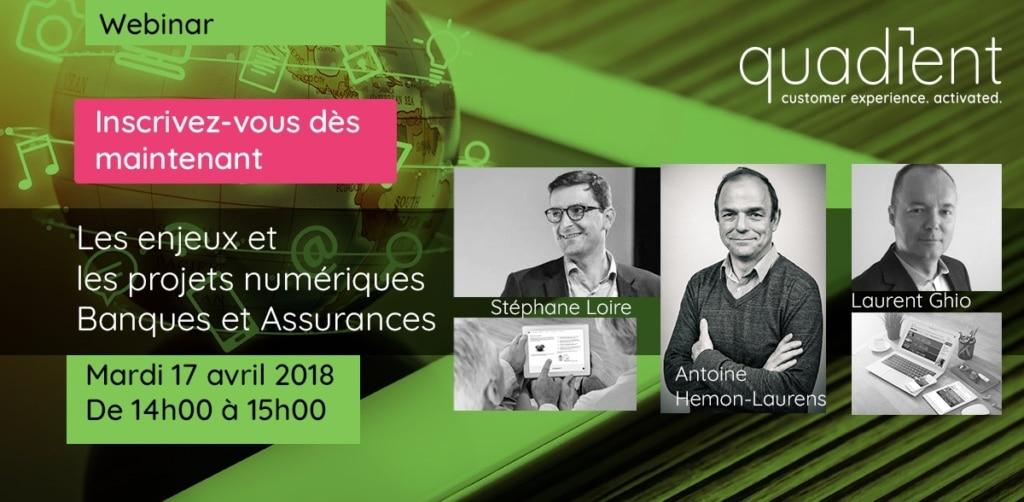 Webinar : Les enjeux et les projets numériques Banques et Assurances