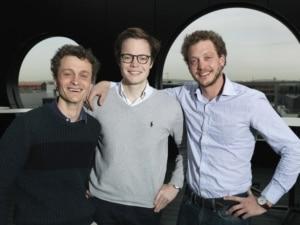 Les trois cofondateurs d'Ermeo : Pierre Joly, Victor Payan et Christophe Joly (DR)