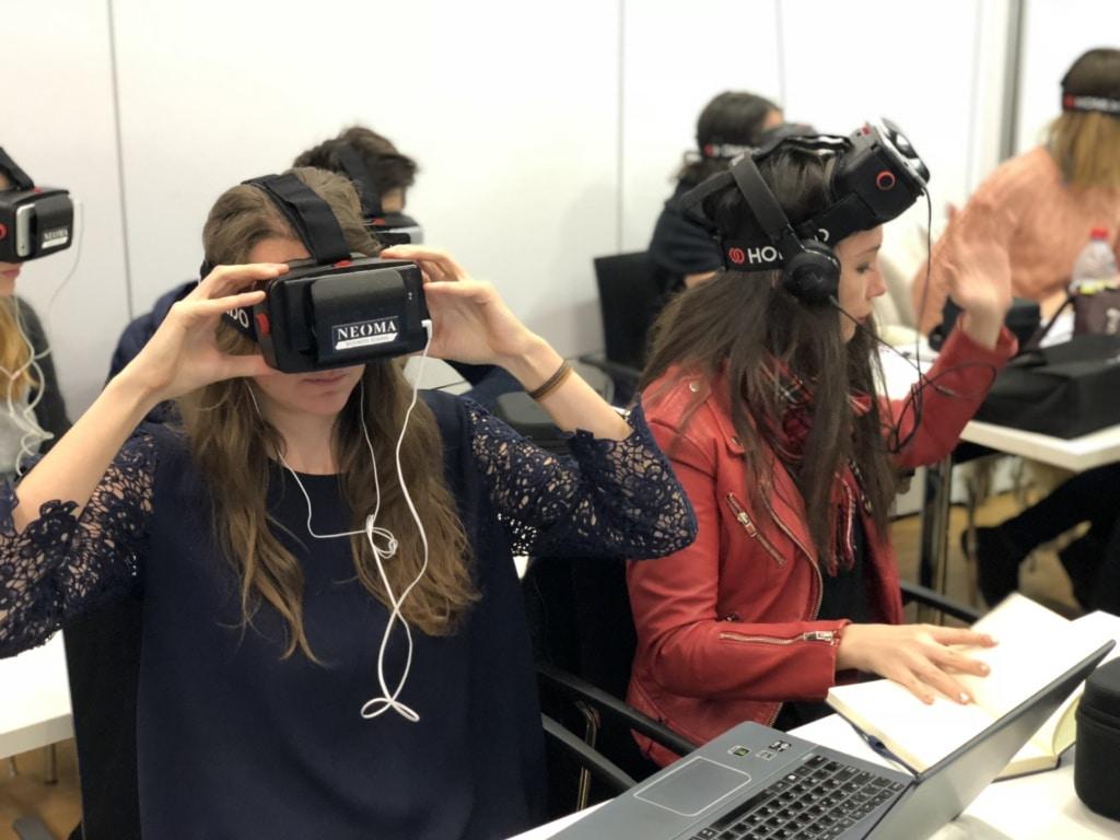 Plus de 1000 étudiants seront sensibilisés à la VR le 27 mars 2018 à Neoma BS. ©DR