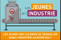 Infographie Arts et Métiers : Les jeunes et l'industrie française