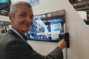 Laurent Verschelde, directeur de Keolis à Dijon, a présenté l'open payment dans les tram au salon sur les transports publics à Paris