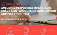 19/09 – Webinar : Comment améliorer l'expérience client grâce à un parcours de souscription complet et optimisé ?