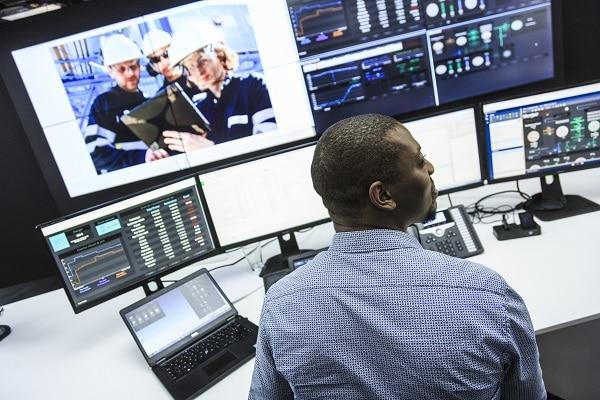 Le premier Centre d'opération et d'optimisation à distance en France, d'Air Liquide à Lyon.