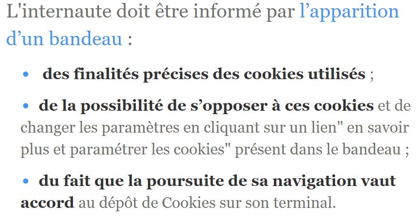 bandeau cookies