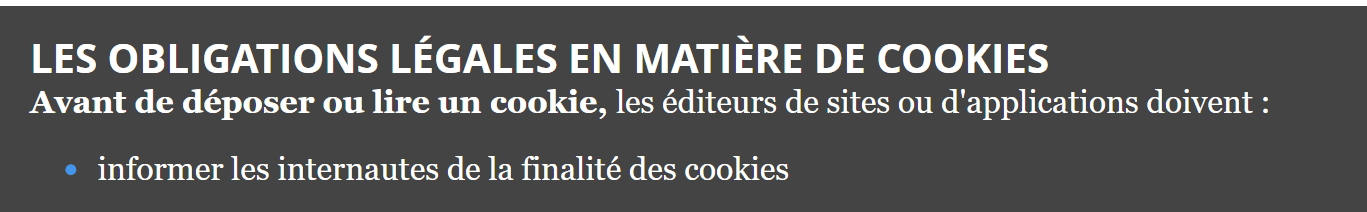 obligations cookies