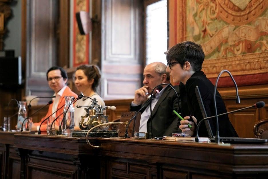 Les trois intervenants lors de l'atelier « Fabriquer à Paris »