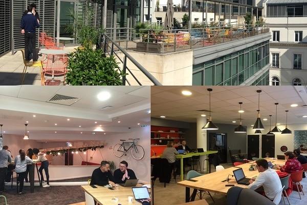 Le Digital Hub de Suez est hébergé dans l'espace de coworking Wojo (ex-Nextdoor), situé dans le IXème arrondissement de Paris.
