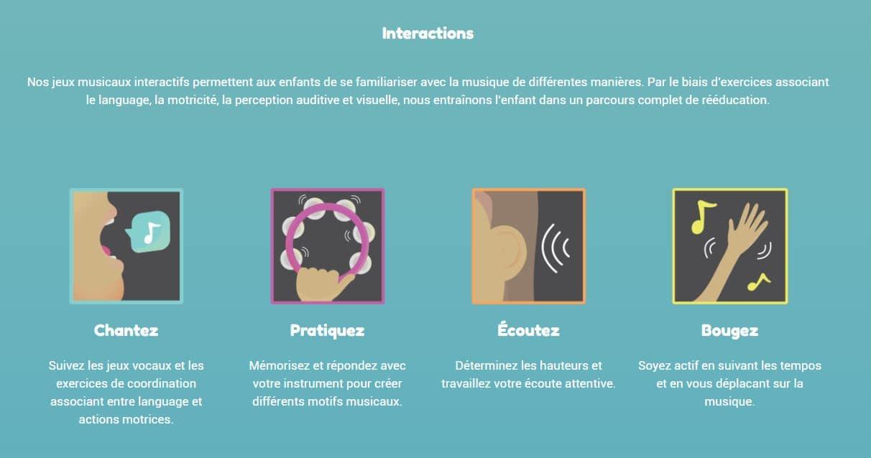 11.Mila : Logiciel interactif de musique pour les enfants atteints