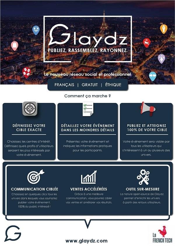Glaydz, le réseau social et professionnel,