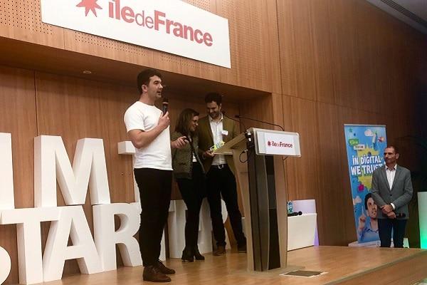 La start-up #Wero, gagnante de la catégorie Impact Positif du Trophée Start-Up Numérique 2018, lors de la remise des trophées le 28 novembre 2018
