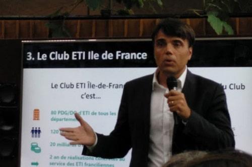 Pierre-Olivier Bridal, président du METI lors du lancement du Club Open Innovation ETI le 25 septembre 2019