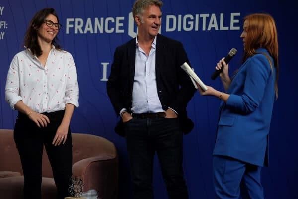 Axel Dauchez, patron de Make.org, lors de la remise du prix le 18 septembre.